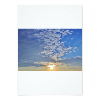 Cloud Formations on top of the Sun Card