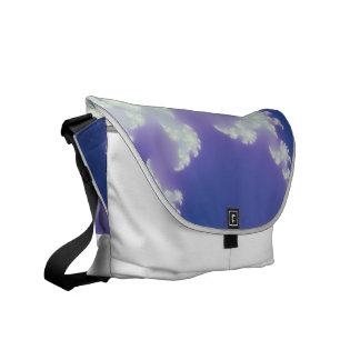 Cloud Fractal Courier Bags