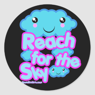 Cloud friends Kawaii t-shirts and more Classic Round Sticker