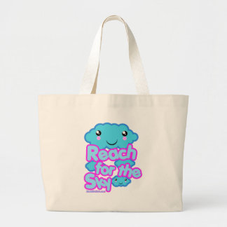 Cloud friends Kawaii t-shirts and more Large Tote Bag