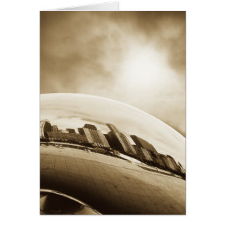 Cloud Gate and Sky - Chicago Card