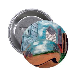 Cloud Gate in Millennium Park Button