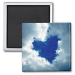 Cloud Heart 2 Inch Square Magnet