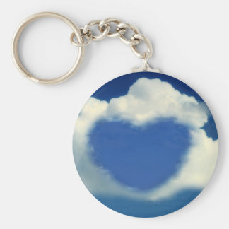 Cloud heart keychain