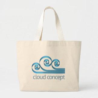 Cloud Icon Concept Large Tote Bag