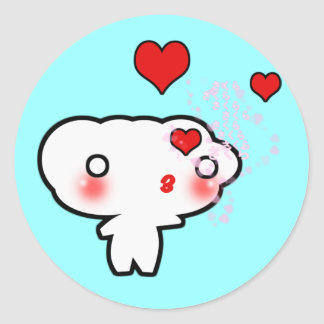 Cloud in Love... Classic Round Sticker