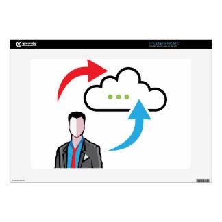 "Cloud information exchange progress businessman 15"" laptop skin"