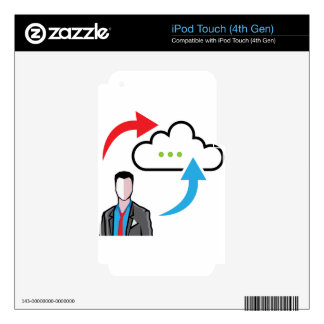Cloud information exchange progress businessman decal for iPod touch 4G