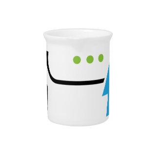 Cloud information exchange progress businessman drink pitcher