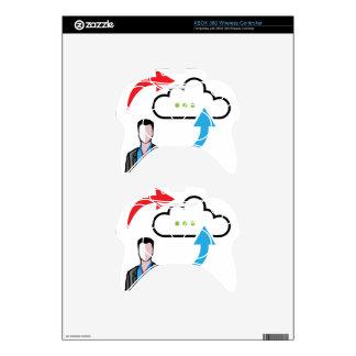 Cloud information exchange progress businessman xbox 360 controller decal