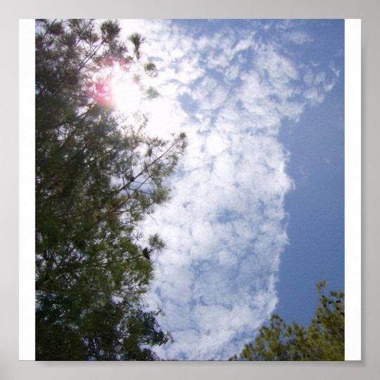 cloud line poster