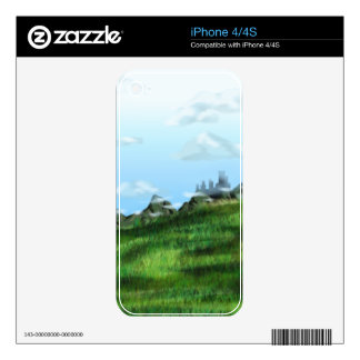 Cloud Meadow Decal For iPhone 4