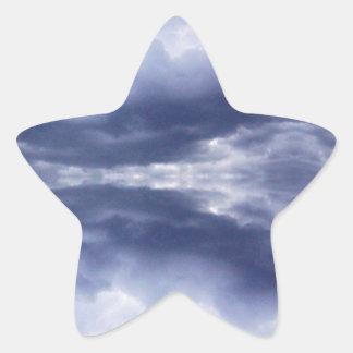 Cloud mirror star sticker