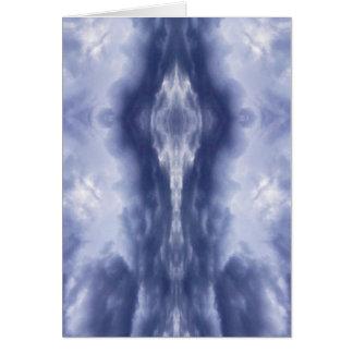 Cloud mirror tarjeta de felicitación