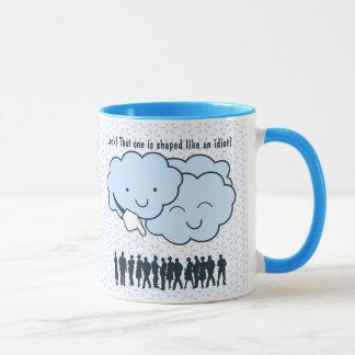 Cloud Mocks Human Shapes Funny Cartoon Mug