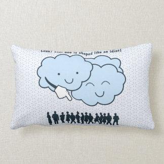 Cloud Mocks Human Shapes Funny Cartoon Pillow