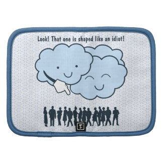 Cloud Mocks Human Shapes Funny Cartoon Folio Planner
