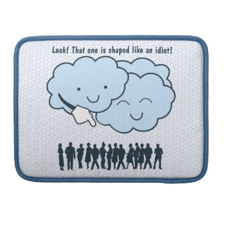 Cloud Mocks Human Shapes Funny Cartoon Sleeve For MacBook Pro
