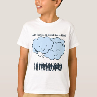 Cloud Mocks Human Shapes Funny Cartoon T-Shirt