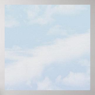 Cloud mural poster customizable 52x52
