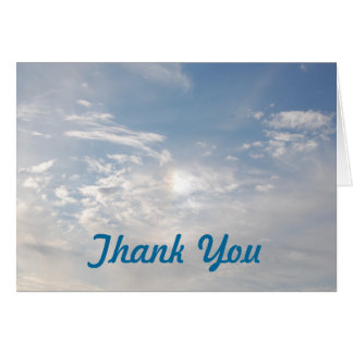 CLOUD NINE - thank-you card