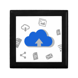 Cloud of ascent to Internet with icons Gift Box