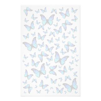 cloud of blue butterflies stationery