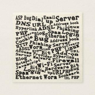 cloud of Internet words Paper Napkin
