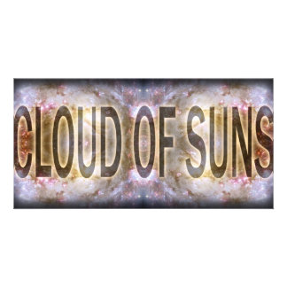 Cloud of Suns Tshirt Customized Photo Card