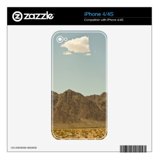 Cloud over Nevada desert and mountains Decal For iPhone 4