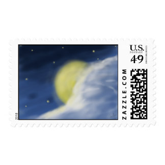 Cloud Partly Hidden by the Moon Postage
