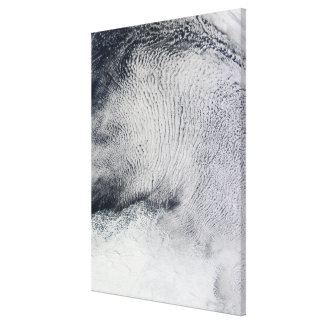 Cloud patterns and sea ice in the Southern Ocea Canvas Print