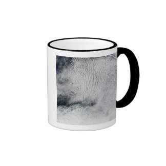 Cloud patterns and sea ice in the Southern Ocea Ringer Coffee Mug