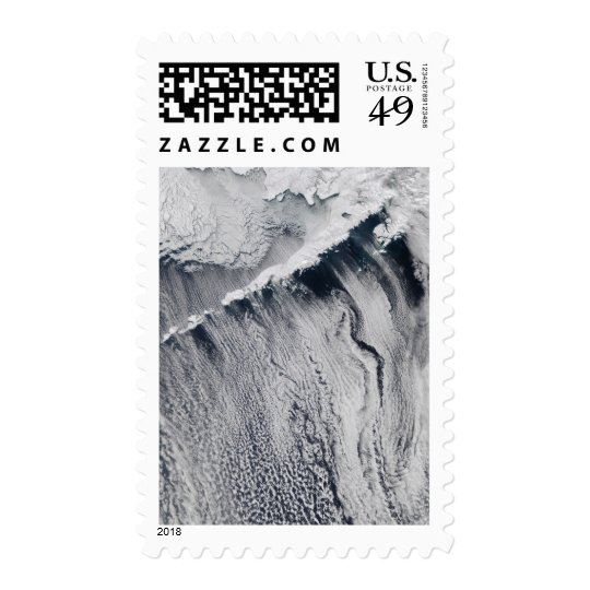 Cloud patterns visible over the Aleutian Island Postage