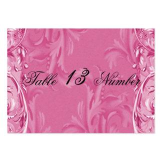 Cloud Pink Vintage Berries Wedding Table Number Business Card
