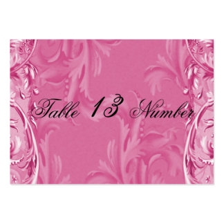 Cloud Pink Vintage Berries Wedding Table Number Large Business Card