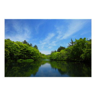 Cloud place pond of the Karuizawa summer Poster