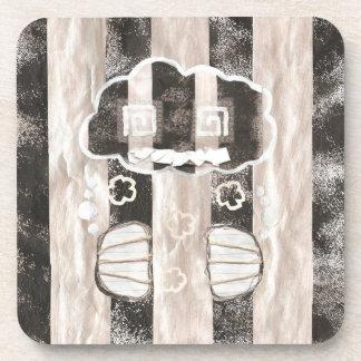 Cloud Prison Plastic Coaster