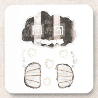 Cloud Prison Plastic Coasters