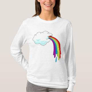 Cloud Puking Rainbow Womans Hoodie