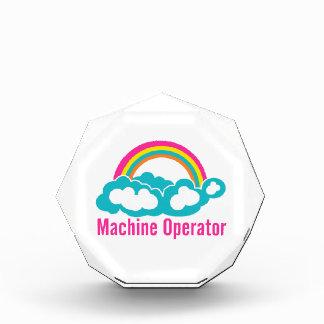 Cloud Rainbow Machine Operator Acrylic Award