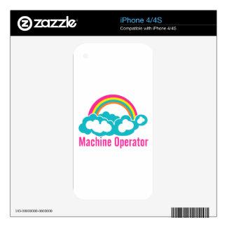 Cloud Rainbow Machine Operator iPhone 4 Skins