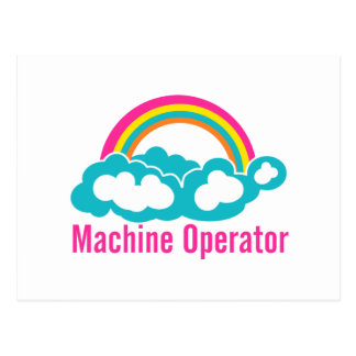 Cloud Rainbow Machine Operator Postcard