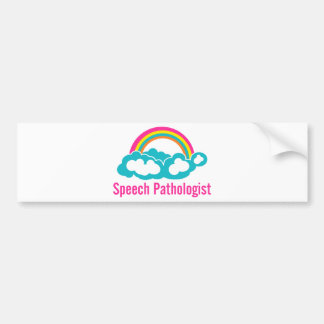 Cloud Rainbow Speech Pathologist Bumper Sticker