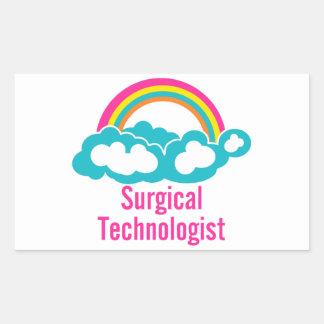 Cloud Rainbow Surgical Technologist Rectangular Sticker