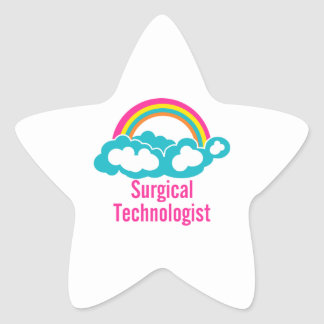 Cloud Rainbow Surgical Technologist Star Sticker