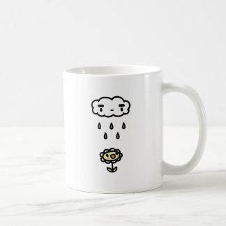 Cloud Raining On Happy Flower Classic White Coffee Mug