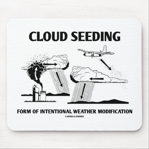 Cloud Seeding Intentional Weather Modification Mouse Pads