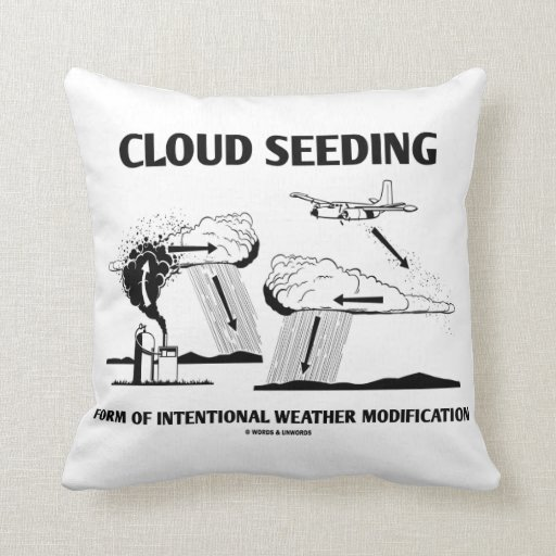 Cloud Seeding Intentional Weather Modification Pillows