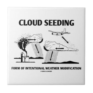Cloud Seeding Intentional Weather Modification Small Square Tile